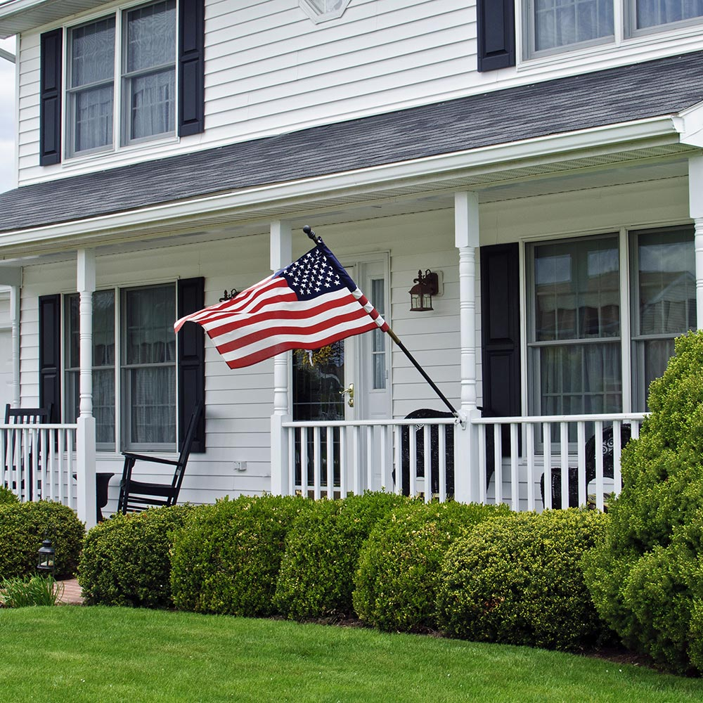 How To Display An American Flag – The Home Depot With Regard To American Flag Porch Swings (View 24 of 25)