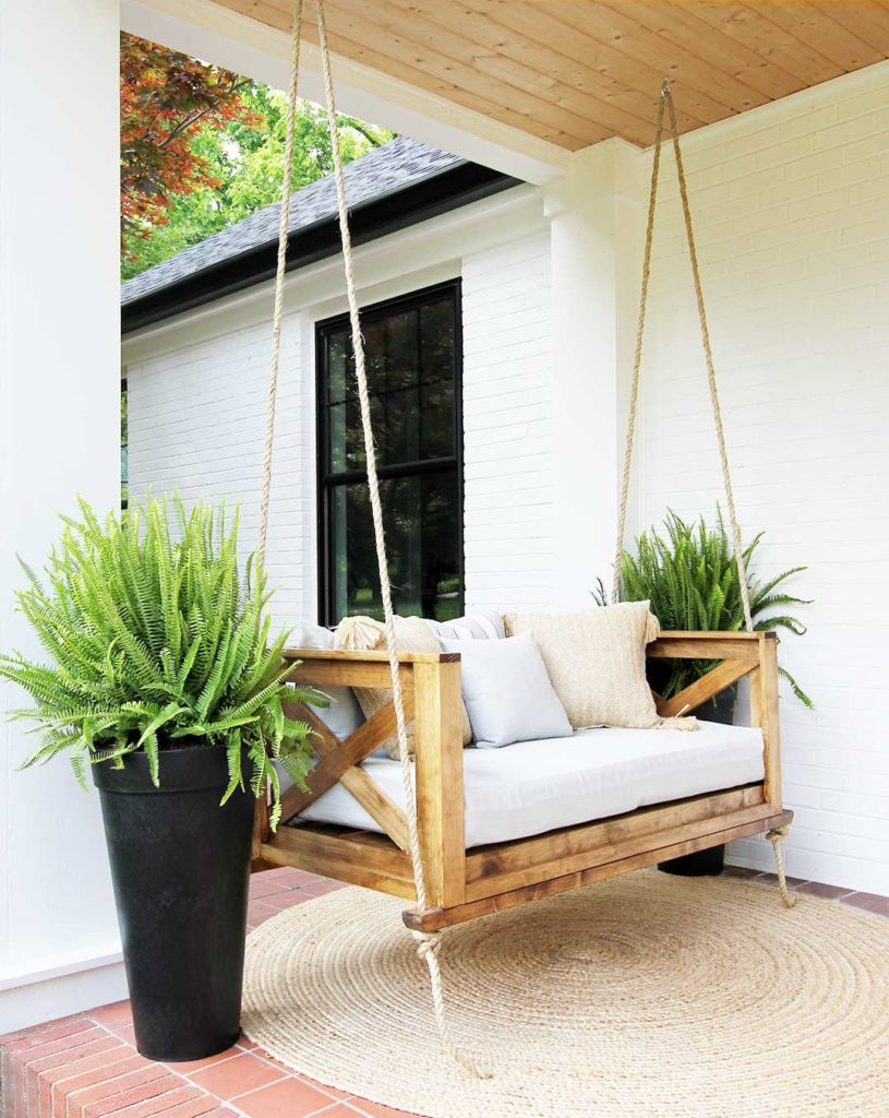 How To Hang A Porch Swing – Plank And Pillow Within Porch Swings (View 5 of 25)