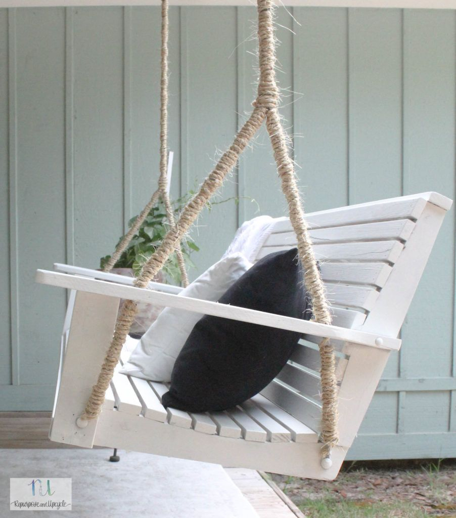 How To Hang A Porch Swing With A Swing Makeover | A Cottage With Regard To Nautical Porch Swings (View 3 of 25)