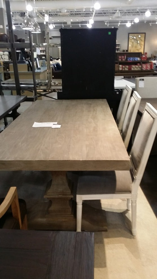 How To Protect Unfinished Wood Dining Table, From With Regard To Country Dining Tables With Weathered Pine Finish (Image 16 of 25)