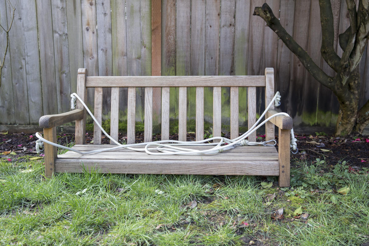 How To Refresh A Porch Swing With Teak Oil | Dunn Diy Throughout Teak Porch Swings (View 11 of 25)