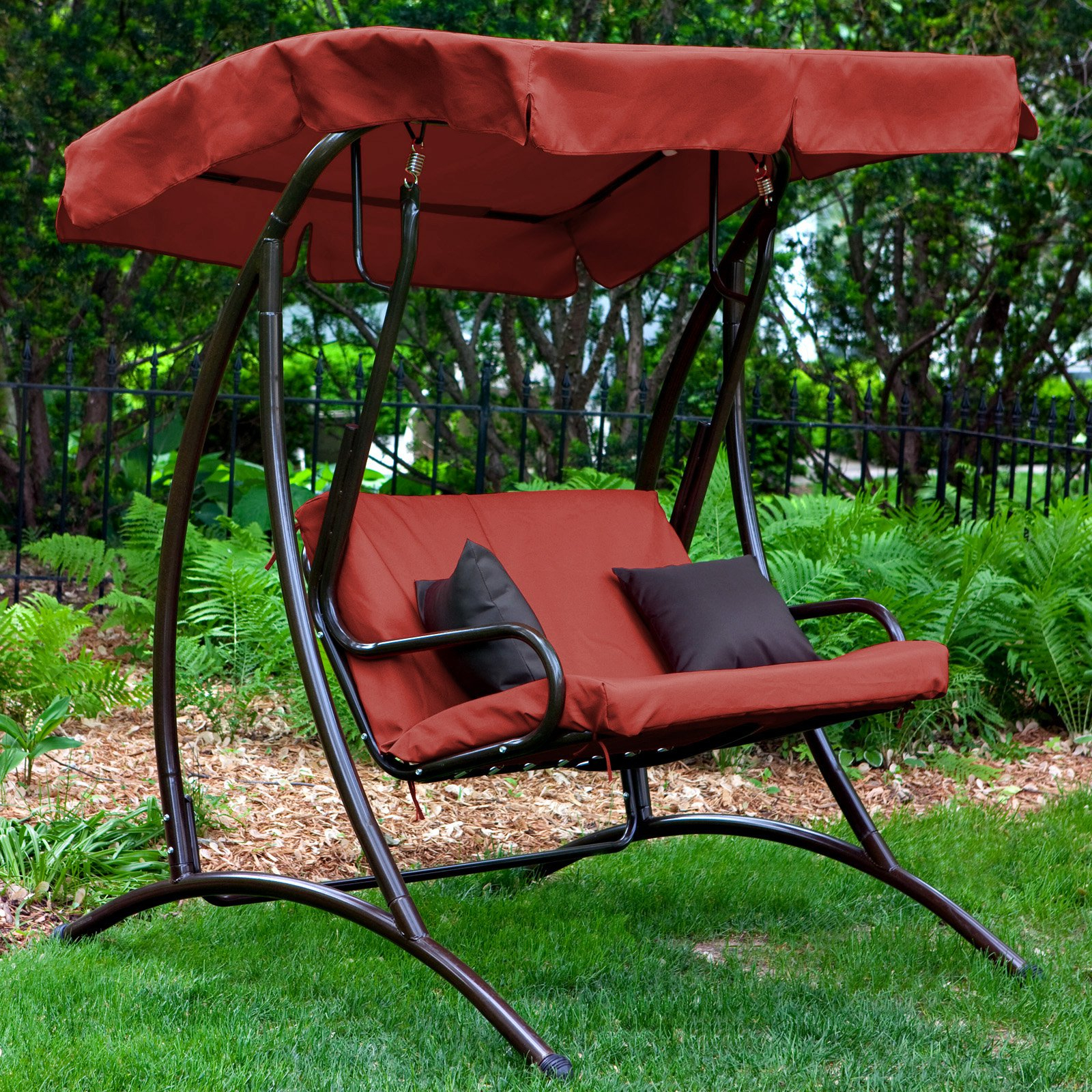 How To Replace A Canopy On An Outdoor Swing (View 8 of 25)