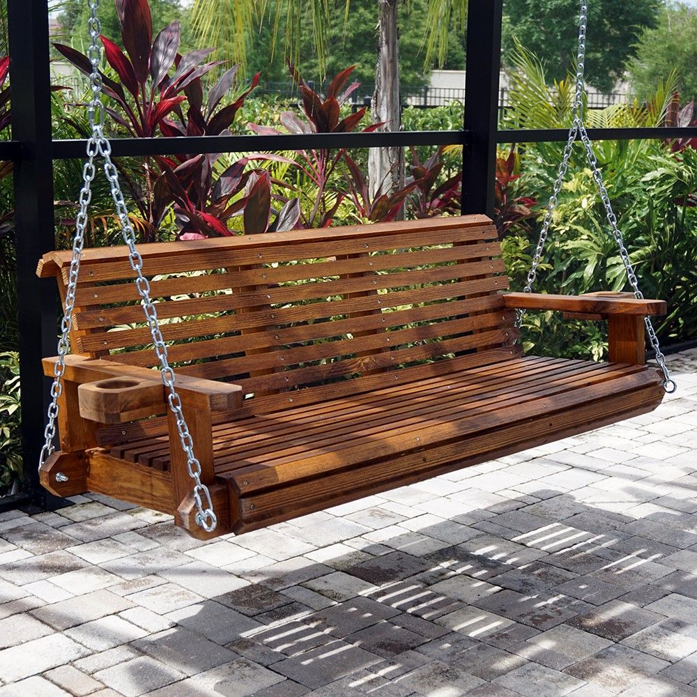Hp Swings Heavy Duty 800 Lb Roll Comfort Porch Swing With In Porch Swings With Chain (View 18 of 25)