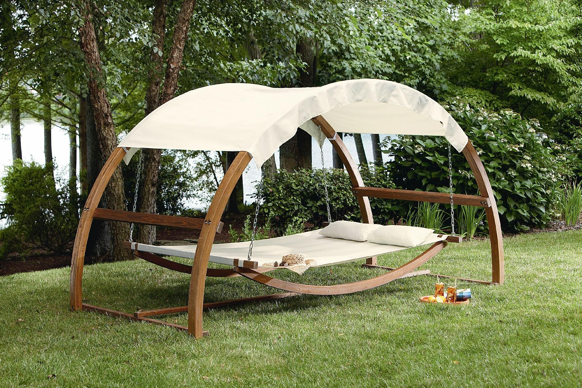 I Would Never Come In The House!! Garden Oasis Arch Swing Throughout Garden Leisure Outdoor Hammock Patio Canopy Rocking Chairs (View 13 of 25)
