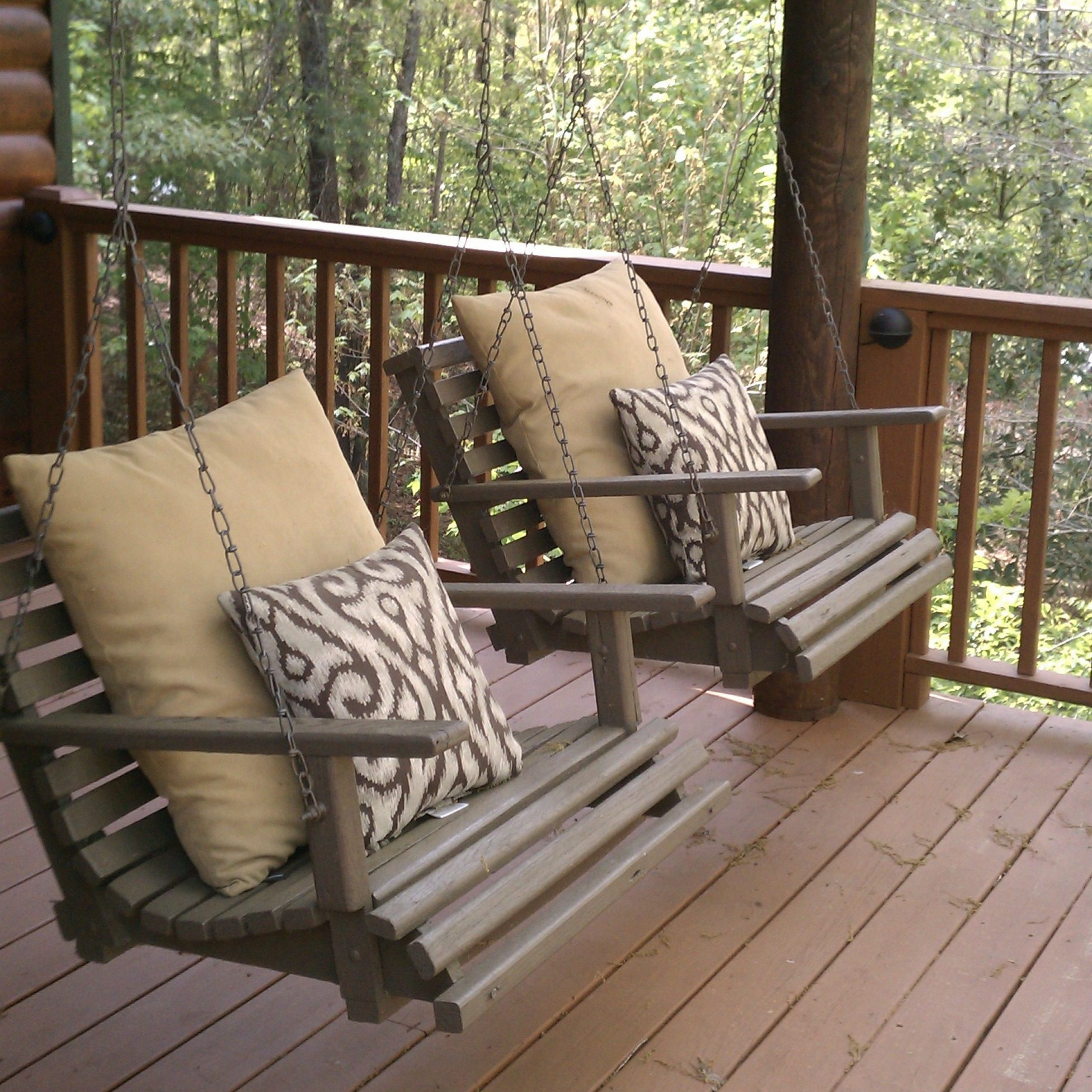 Individual Porch Swings! | Home Sweet Home | Home Decor Regarding Country Style Hanging Daybed Swings (View 16 of 25)