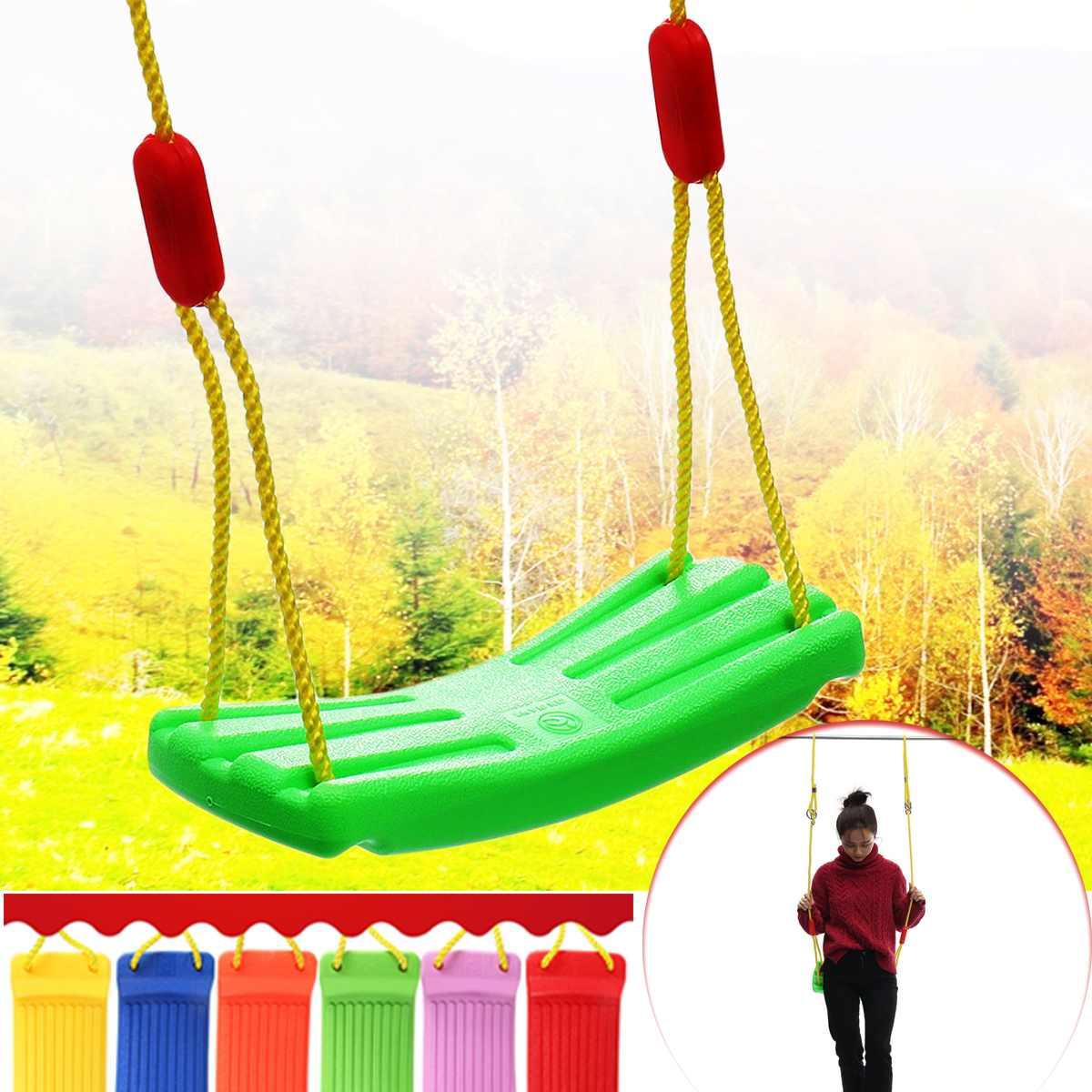 Indoor Outdoor Garden Swing Seat Baby Kids Children Toy U Type Adjustable  Rope Plastic Candy Color 37X17Cm Indoor Sport Regarding Nest Swings With Adjustable Ropes (View 12 of 25)