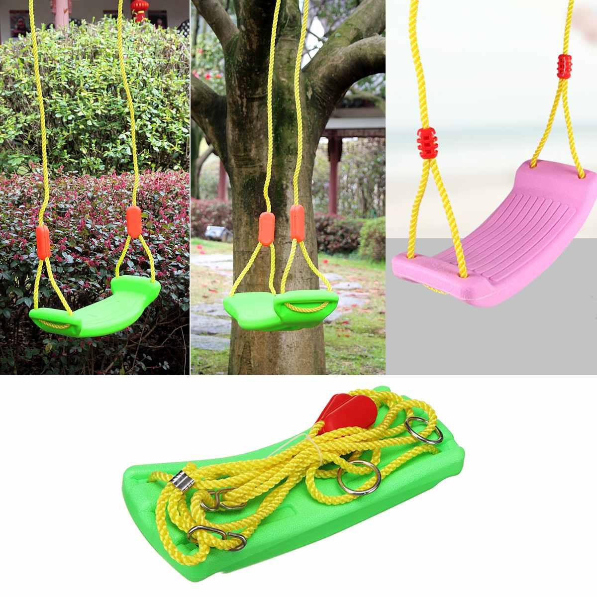 Indoor Outdoor Garden Swing Seat Baby Kids Children Toy U Type Adjustable  Rope Plastic Candy Color 37X17Cm Indoor Sport With Nest Swings With Adjustable Ropes (View 21 of 25)