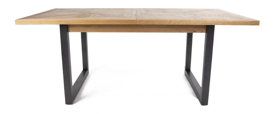 Indus Rustic Oak & Peppercorn Rectangular Dining Table In Rectangular Dining Tables (View 14 of 25)