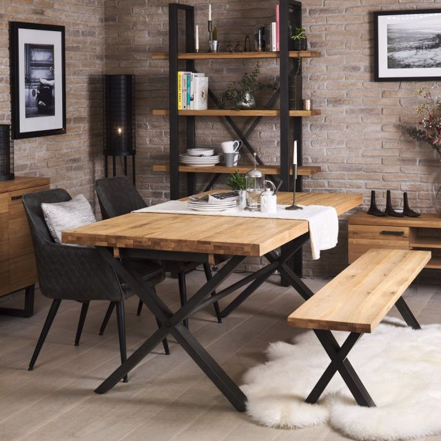 Industrial Dining Table Throughout Wood Top Dining Tables (View 8 of 25)