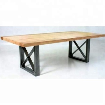 Industrial & Indian Iron Metal & Solid Acacia Live Edge Wood Top Folding Dining Table – Buy Metal Leg Dining Wood Table,solid Wood Flip Top Dining With Regard To Iron Wood Dining Tables With Metal Legs (View 24 of 25)