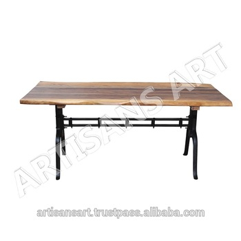 Industrial Live Edge Iron Base Dining Table,solid Wood Slab Dining Table,acacia Wood Dining Table Manufacturer – Buy Live Edge Modern Dining For Acacia Wood Dining Tables With Sheet Metal Base (View 7 of 25)