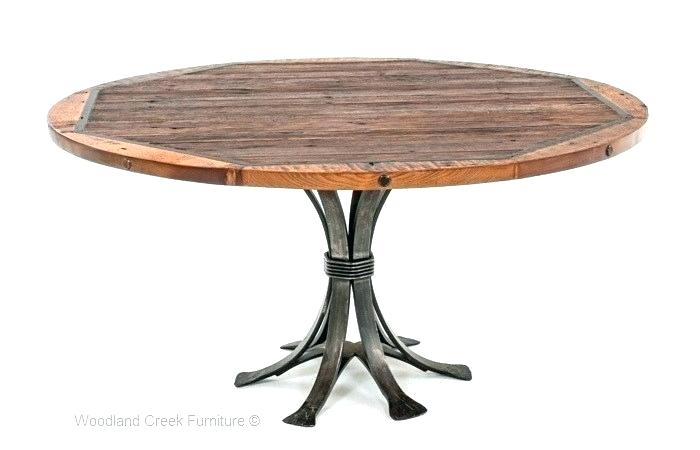Industrial Round Dining Table – Salespots Intended For Small Round Dining Tables With Reclaimed Wood (View 17 of 25)