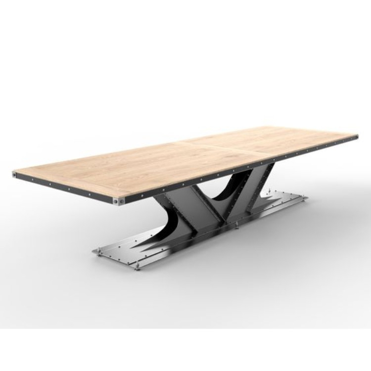 Featured Image of Iron Dining Tables With Mango Wood