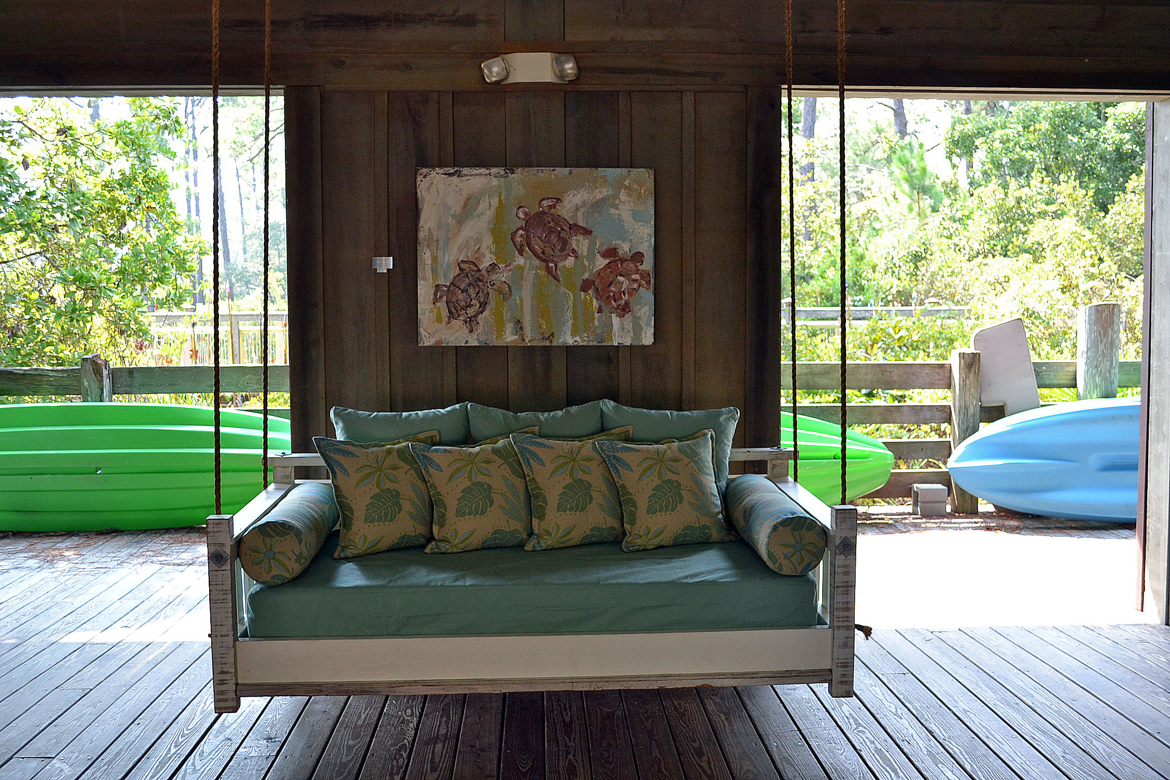Inspirations: Enjoy Your All Day With Cozy Wooden Porch For Daybed Porch Swings With Stand (View 21 of 25)