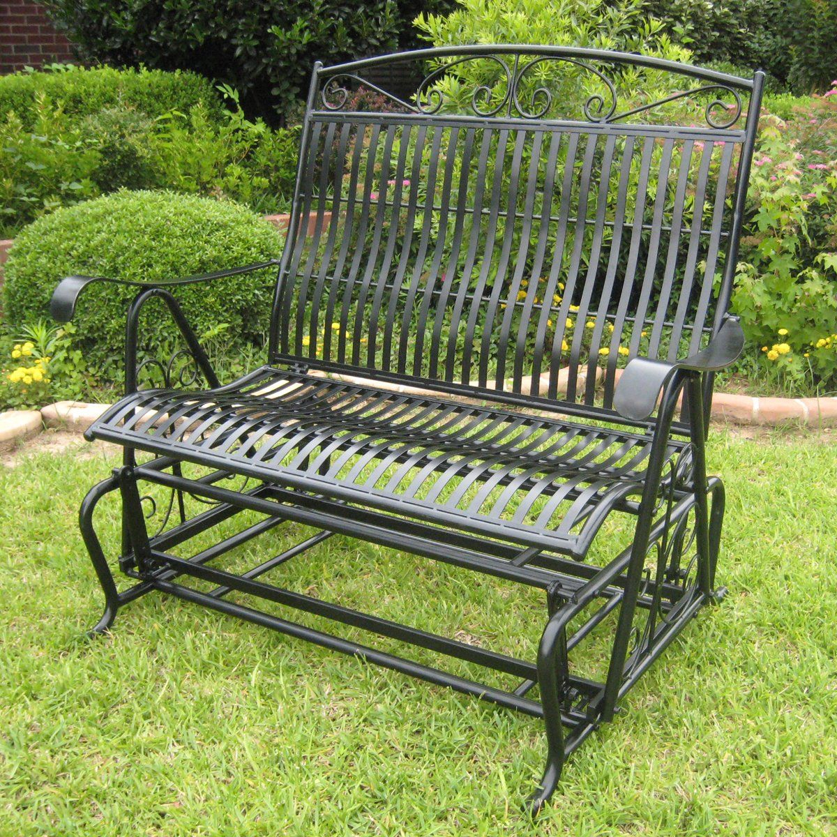 Featured Image of Iron Double Patio Glider Benches