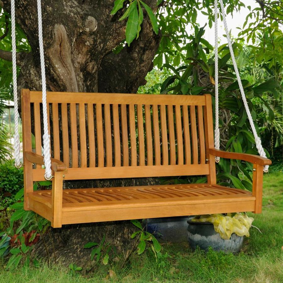 Featured Image of 2 Person Light Teak Oil Wood Outdoor Swings