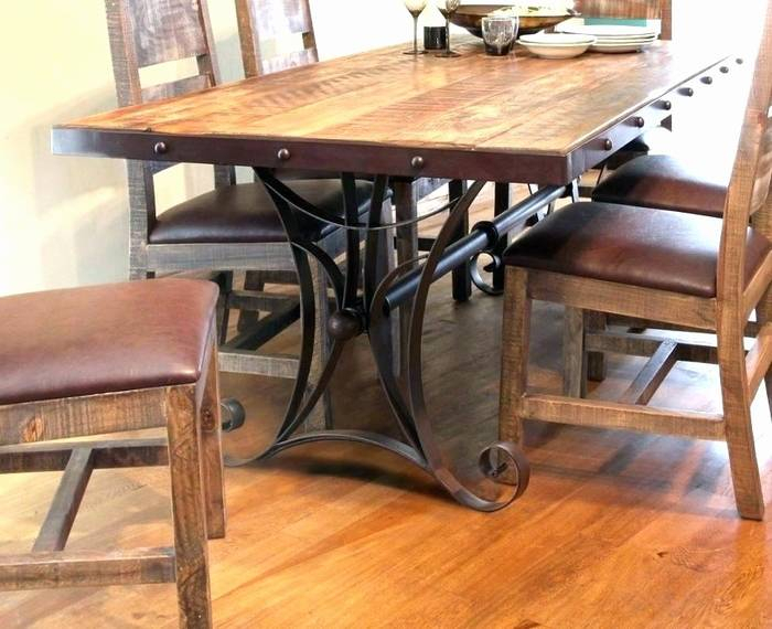 Iron Dining Table Base Furniture Room Delectable Wrought Inside Iron Wood Dining Tables (View 25 of 25)