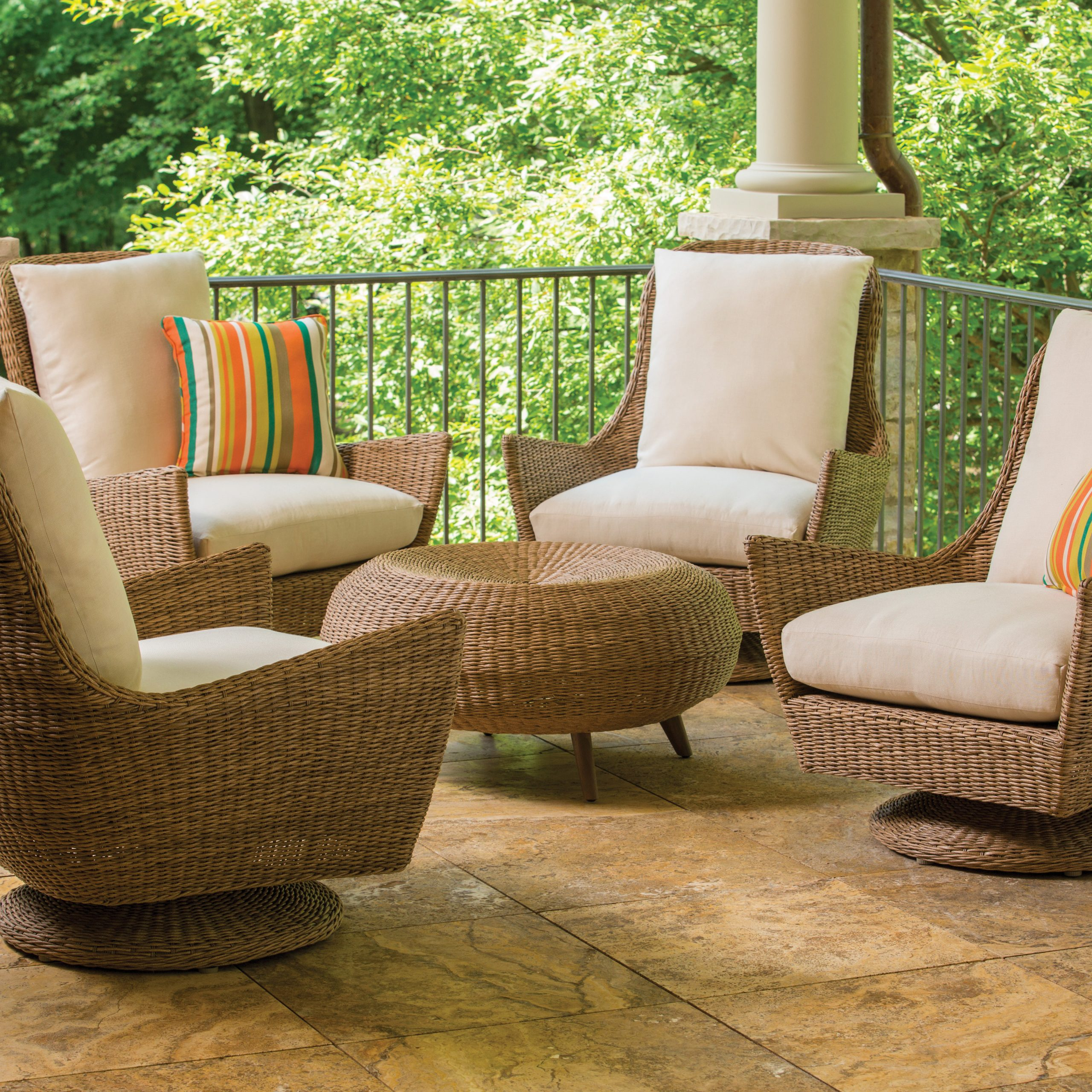 Item | Lloyd Flanders – Premium Outdoor Furniture In All Regarding Woven High Back Swivel Chairs (Image 12 of 25)