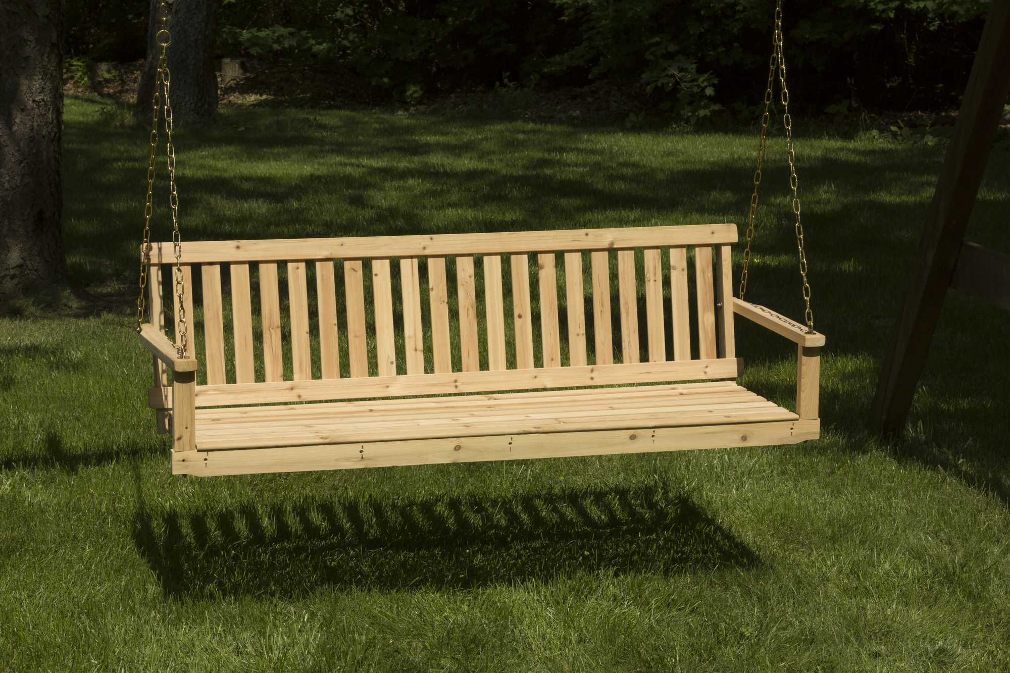 Jack Post Jennings 5' Swing With Chains – Walmart Pertaining To 2 Person Natural Cedar Wood Outdoor Swings (View 11 of 25)