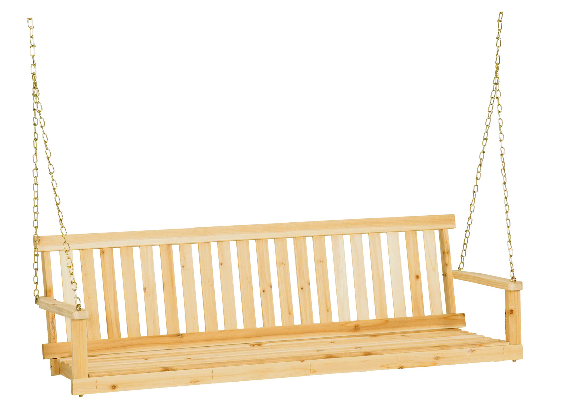 Jack Post Jennings 5' Swing With Chains – Walmart With 3 Person Natural Cedar Wood Outdoor Swings (View 21 of 25)