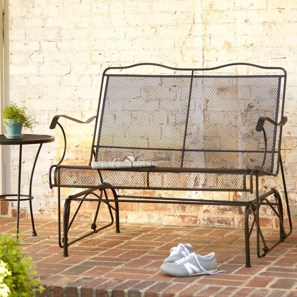Jackson Patio Loveseat Glider Within Outdoor Retro Metal Double Glider Benches (View 20 of 25)