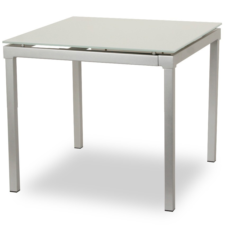 Jacombs | Extendable Dining Table – White Intended For Glass Top Condo Dining Tables (View 14 of 25)