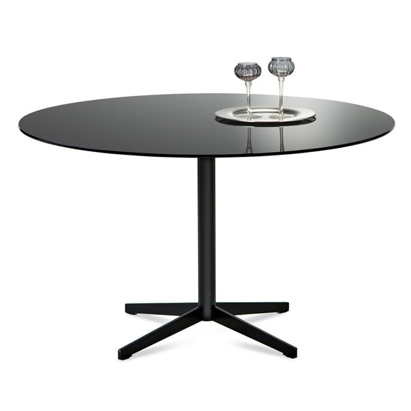 Jasper Round Dining Table Black Black Glass | Dining Tables Pertaining To Dom Round Dining Tables (Image 19 of 25)