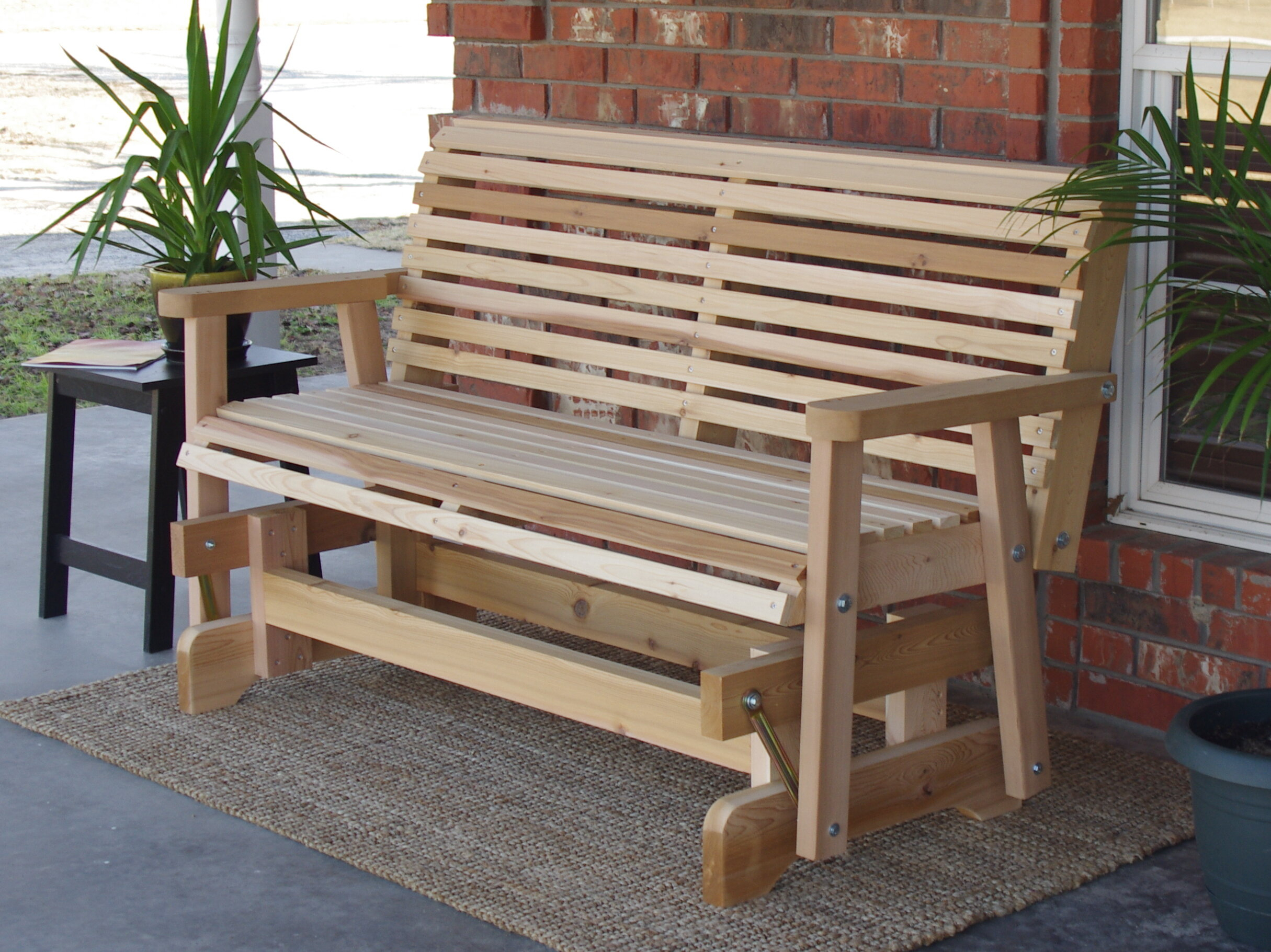 Jessica Cedar Glider Bench With Traditional English Glider Benches (View 17 of 25)