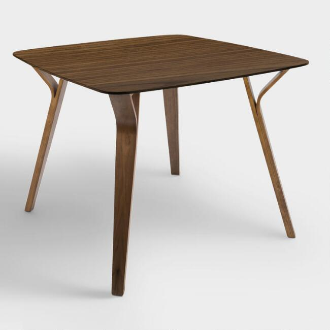 Joel Wood Mid Century Dining Table In Mid Century Rectangular Top Dining Tables With Wood Legs (Image 10 of 25)