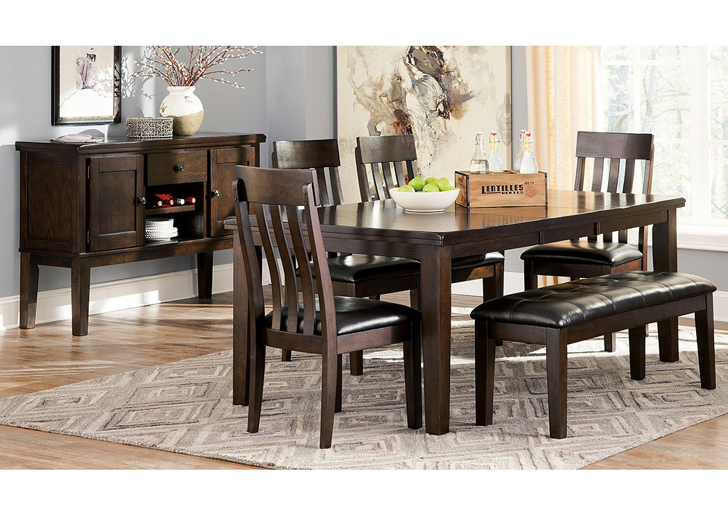 Johnson's Furniture Haddigan Dark Brown Rectangle Dining Intended For Transitional 4 Seating Drop Leaf Casual Dining Tables (Image 17 of 25)