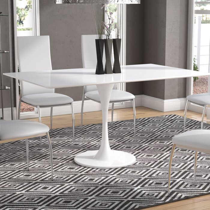 Julien Contemporary Rectangular Dining Table With Regard To Contemporary Rectangular Dining Tables (View 16 of 25)
