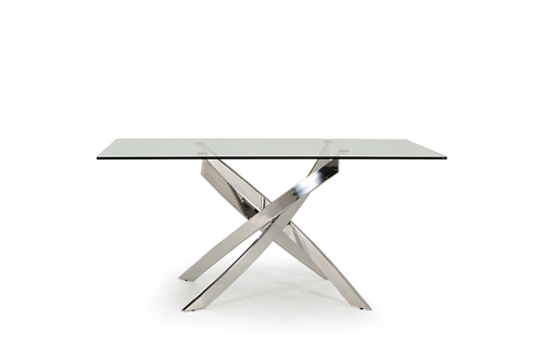 Kalmar Contemporary Glass Chrome Rectangular Dining Table In Contemporary Rectangular Dining Tables (View 18 of 25)