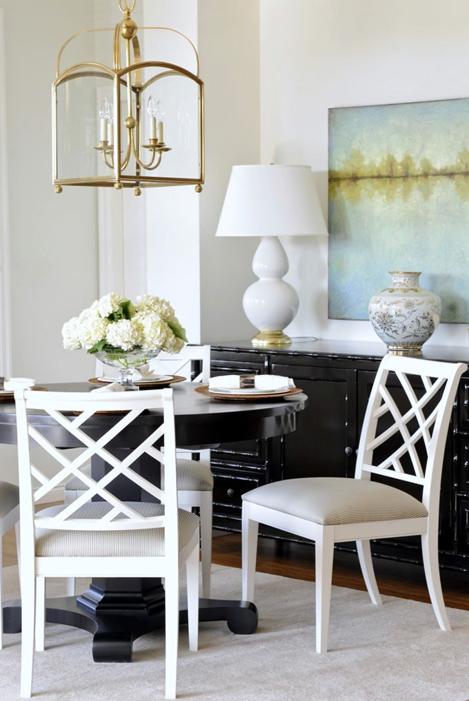 Karla Amadatsu + Tracey Ayton Photography | Dining Room Within Vintage Cream Frame And Espresso Bamboo Dining Tables (View 10 of 25)