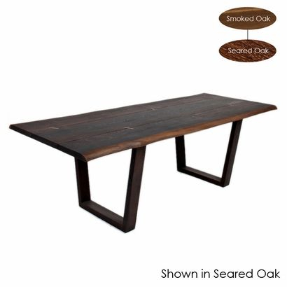 Kava Dining Table – Click To Enlarge | New House | Eclectic Intended For Dining Tables In Smoked/seared Oak (Image 11 of 26)