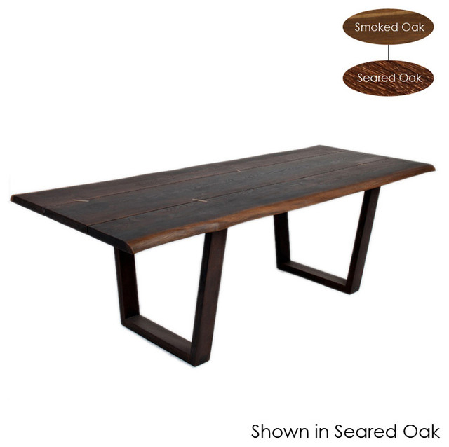 Kava Dining Table, Seared Oak/small Within Dining Tables In Smoked Seared Oak (View 6 of 25)