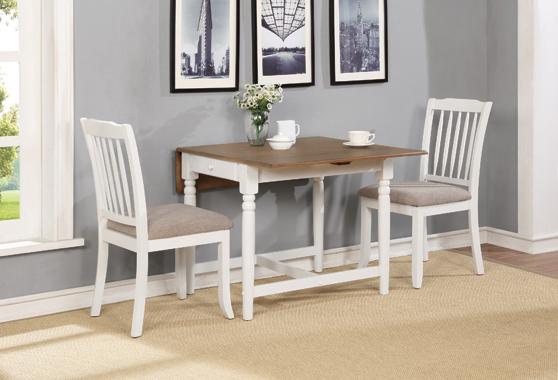 Kelso Rectangular Dining Table With Drop Leaf Cappuccino Throughout Transitional 3 Piece Drop Leaf Casual Dining Tables Set (View 21 of 25)