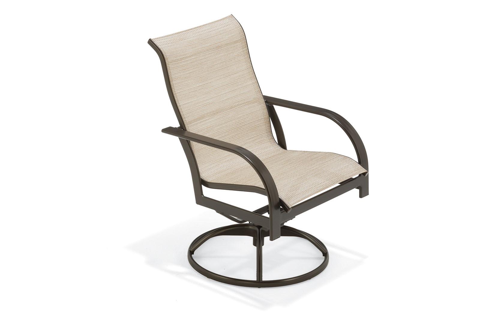 Key West Sling Sling High Back Swivel Tilt Chair | Outdoor Inside Sling High Back Swivel Chairs (View 20 of 25)