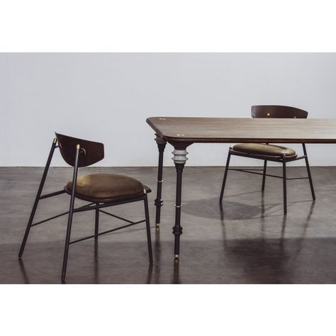 Kimbell Dining Table In Smoked Wood Top | Dining Tables In Dining Tables In Smoked Seared Oak (View 3 of 25)