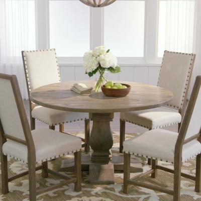 Kitchen & Dining Tables – Kitchen & Dining Room Furniture With Distressed Grey Finish Wood Classic Design Dining Tables (Image 18 of 25)
