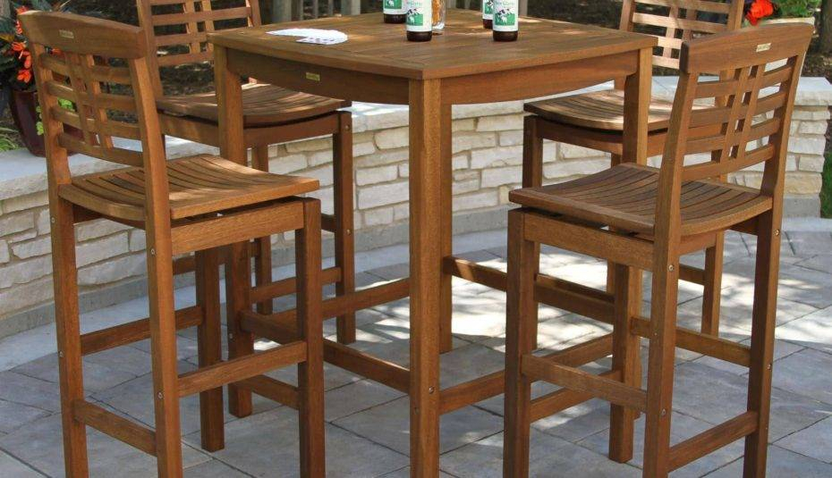 Kitchen Furniture Square Bar Table Chair High Top Tables And Pertaining To Patio Square Bar Dining Tables (View 17 of 25)