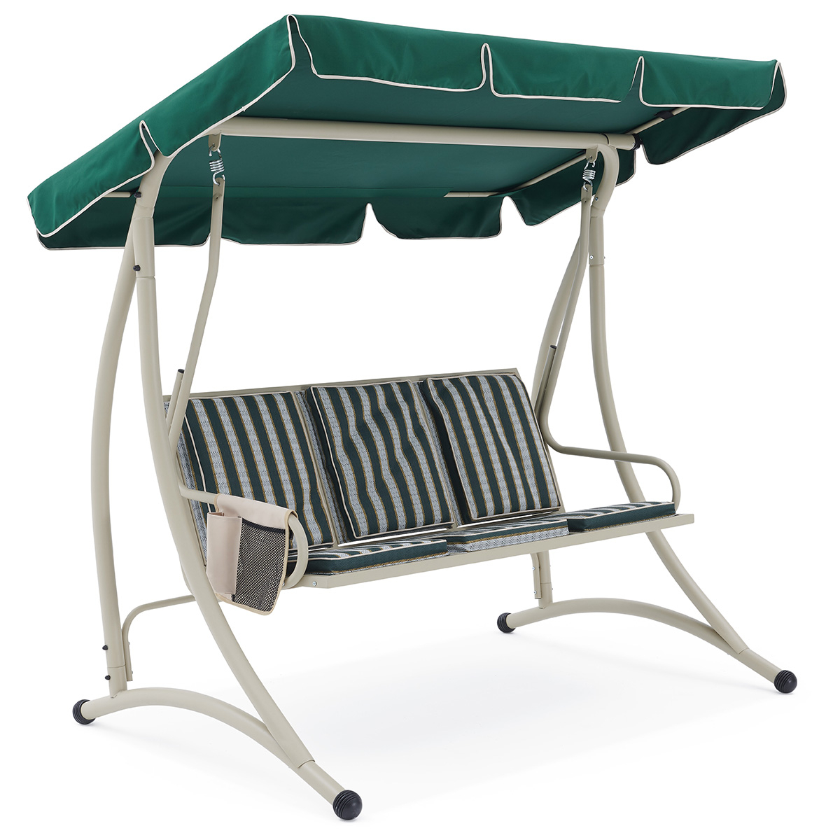 Korina 3 Seater Swing With Regard To Outdoor Pvc Coated Polyester Porch Swings With Stand (View 8 of 25)