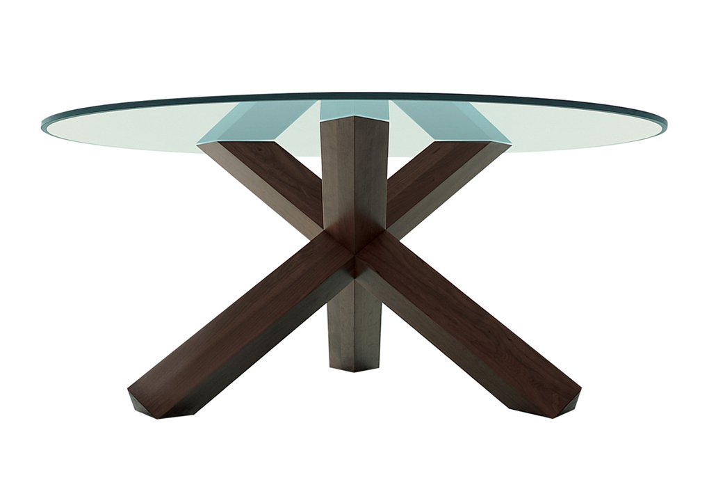 La Rotonda Dining Table Designedmario Bellini Within Dining Tables With Stained Ash Walnut (Image 16 of 25)