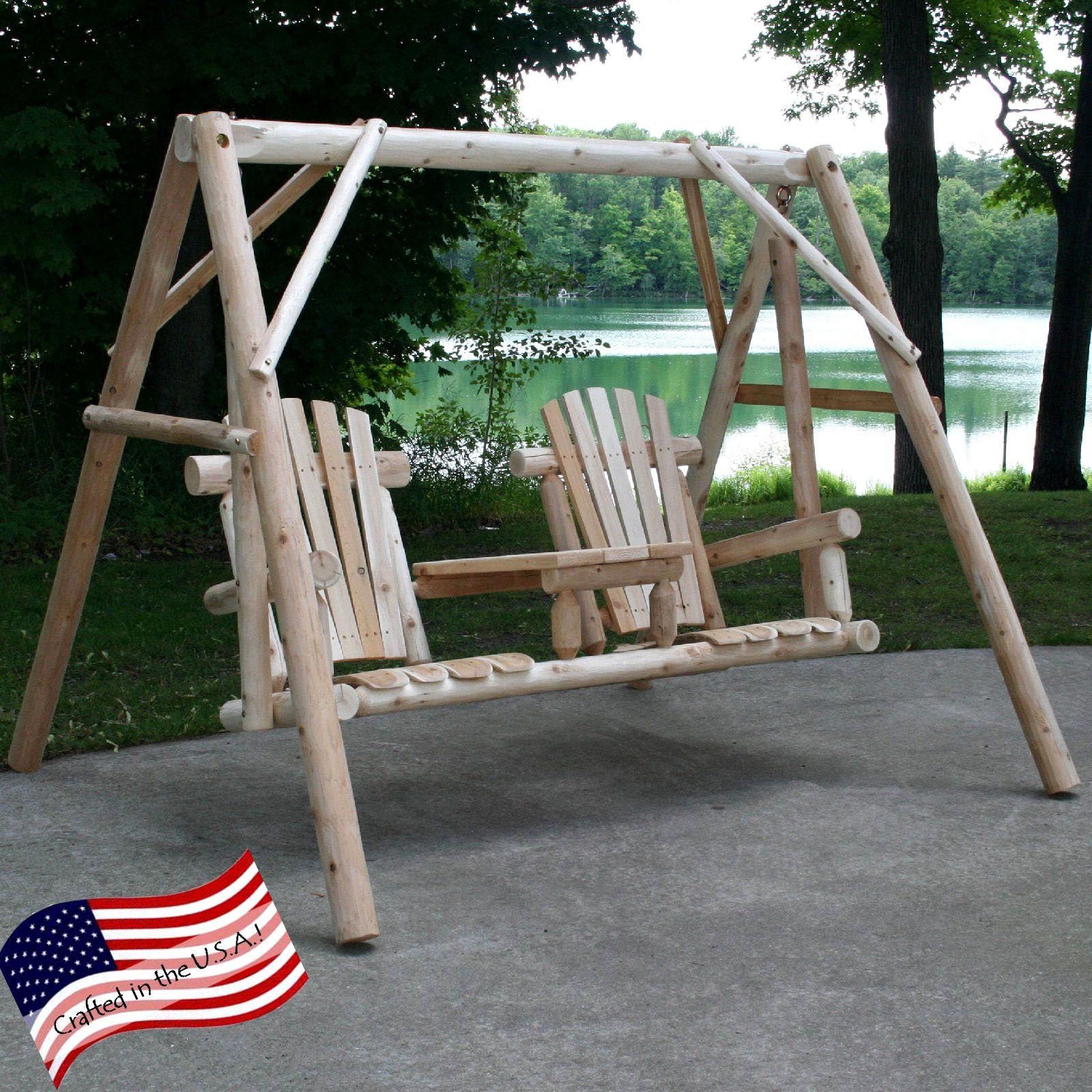 Lakeland Mills Tete A Tete Yard Swing Set | Products In 2019 For 2 Person Natural Cedar Wood Outdoor Swings (View 19 of 25)
