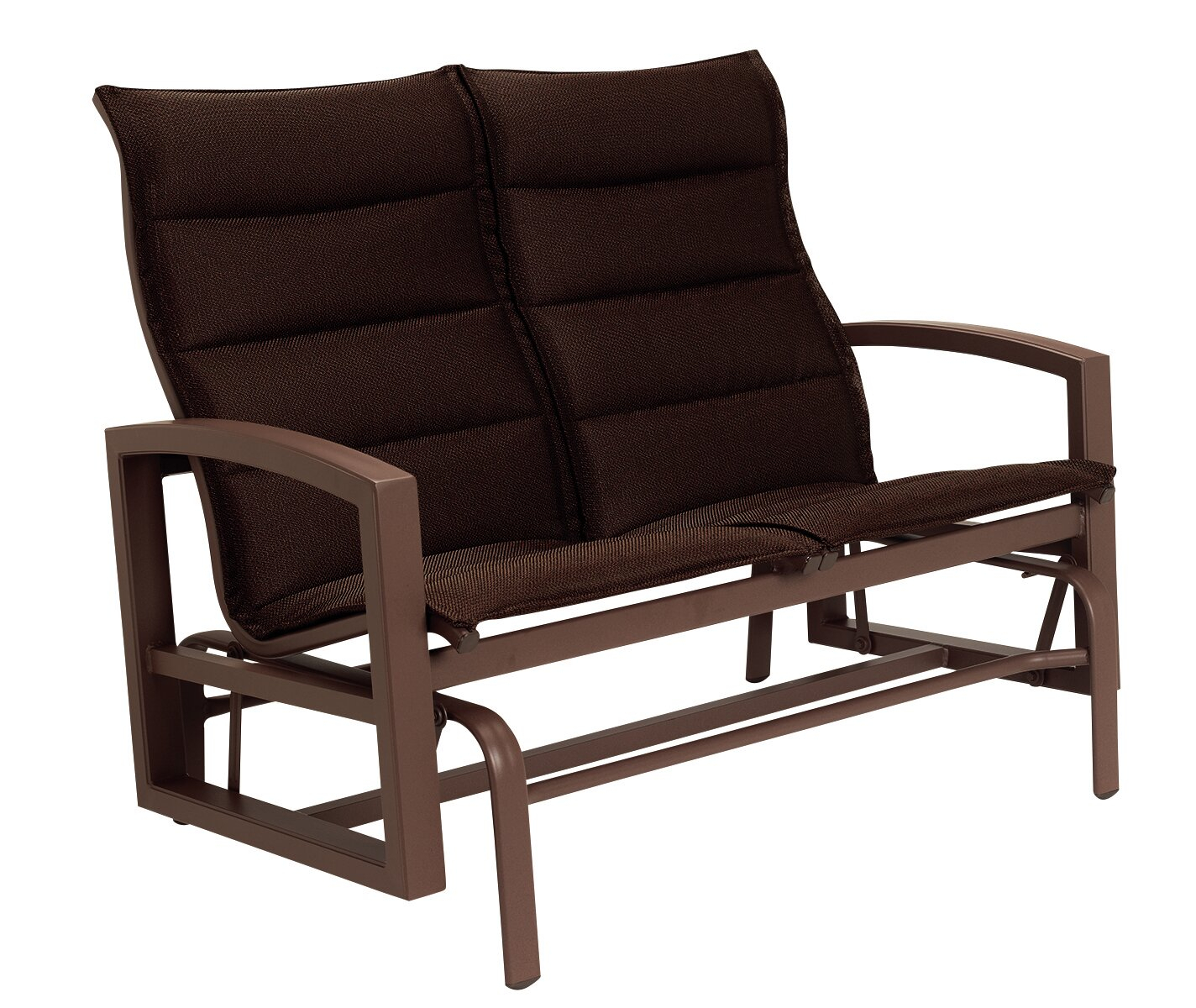 Lakeside Padded Sling Double Glider Throughout Padded Sling Double Glider Benches (View 11 of 25)