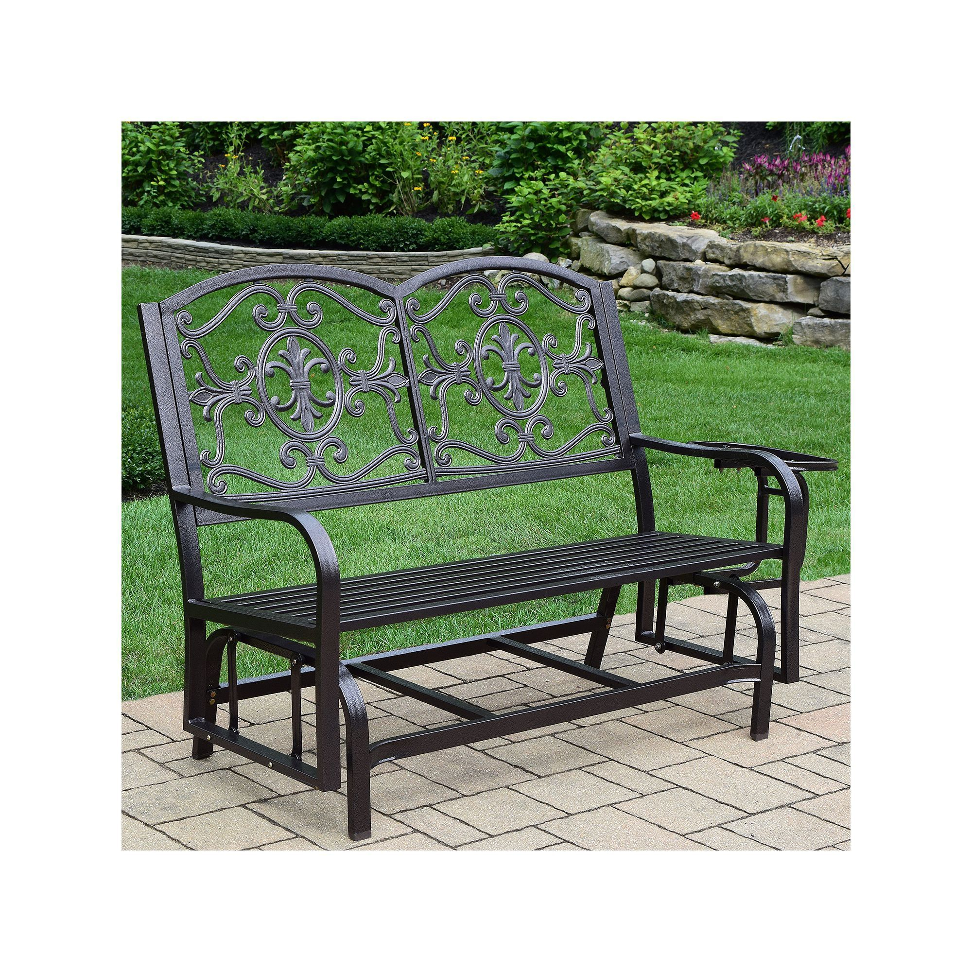 Lakeville Outdoor Double Glider | Outdoor, Patio Rocking Inside Indoor/outdoor Double Glider Benches (View 17 of 25)