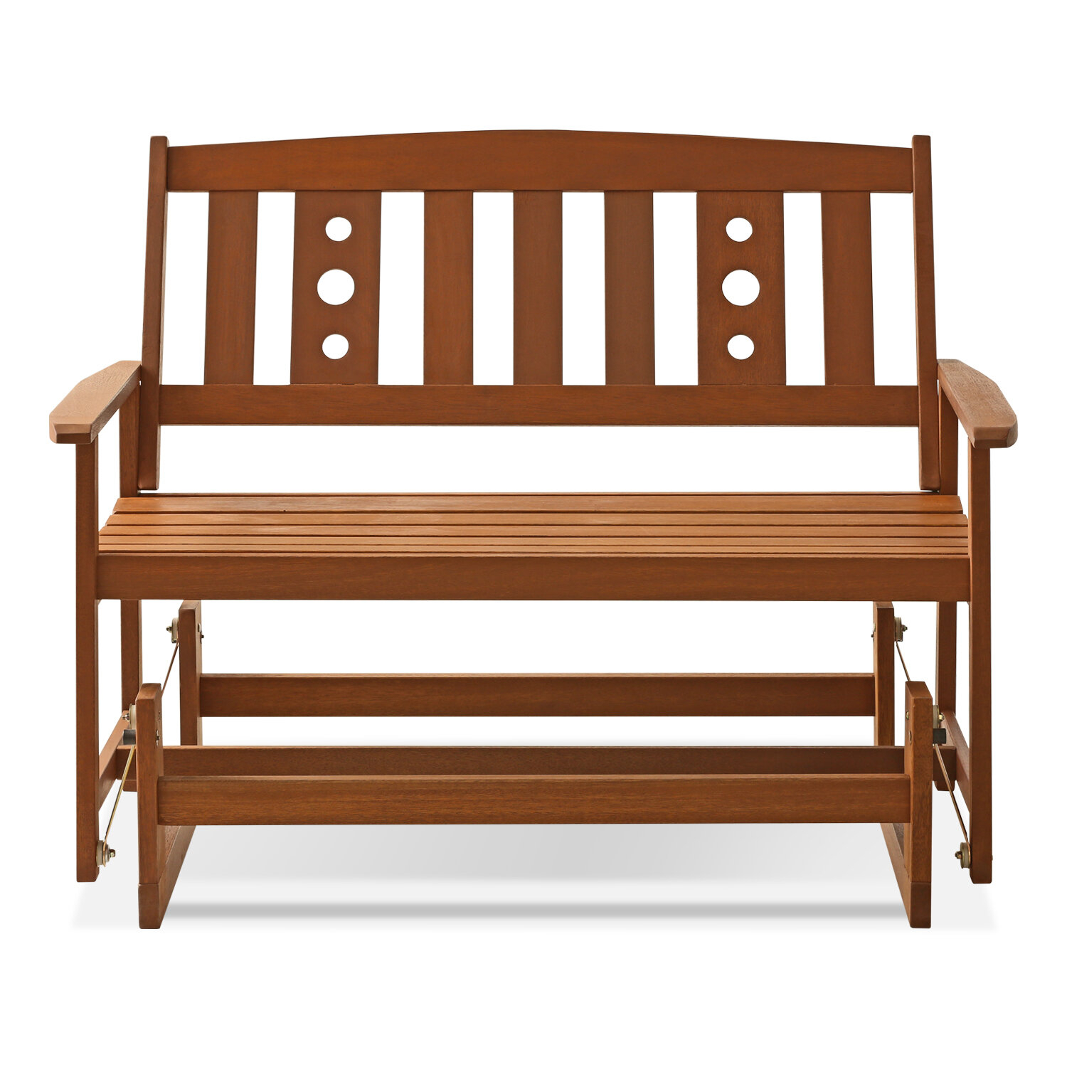 Langley Street Arianna Glider Bench & Reviews | Wayfair Inside Hardwood Porch Glider Benches (View 14 of 25)