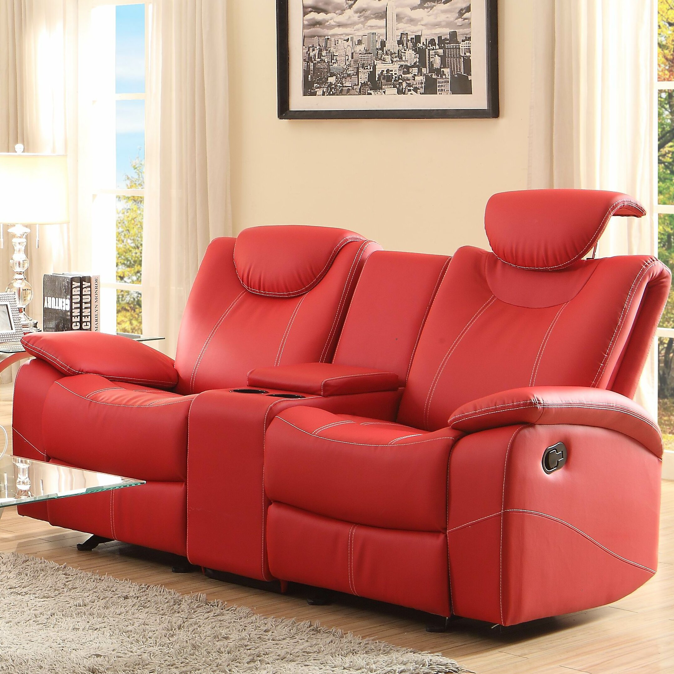 Latitude Run Erik Double Glider Reclining Loveseat & Reviews For Double Glider Loveseats (Image 16 of 25)