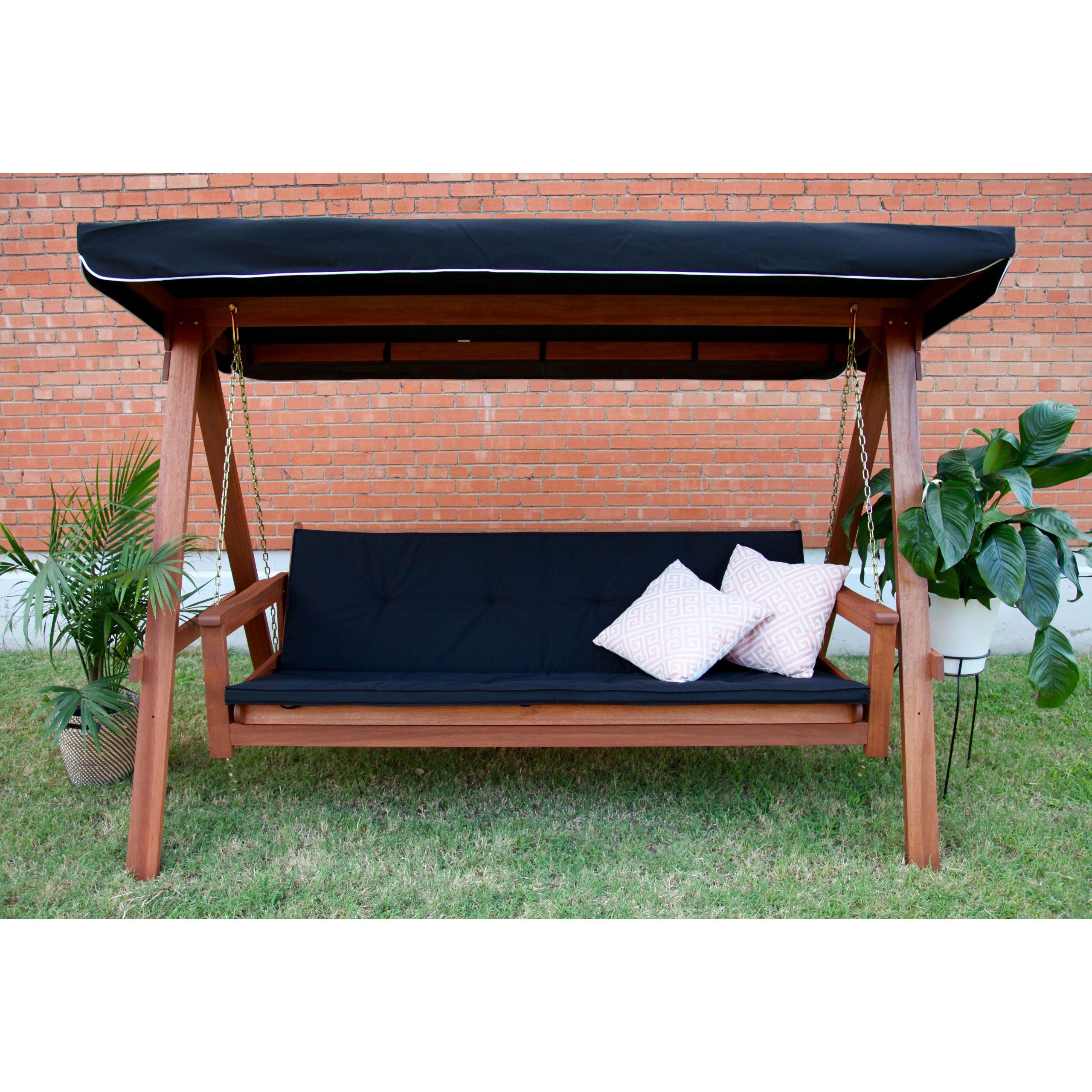Lautan Llc Avoca 3 Seat Porch Swing Daybed | Porch Swing Pertaining To Wicker Glider Outdoor Porch Swings With Stand (View 6 of 25)