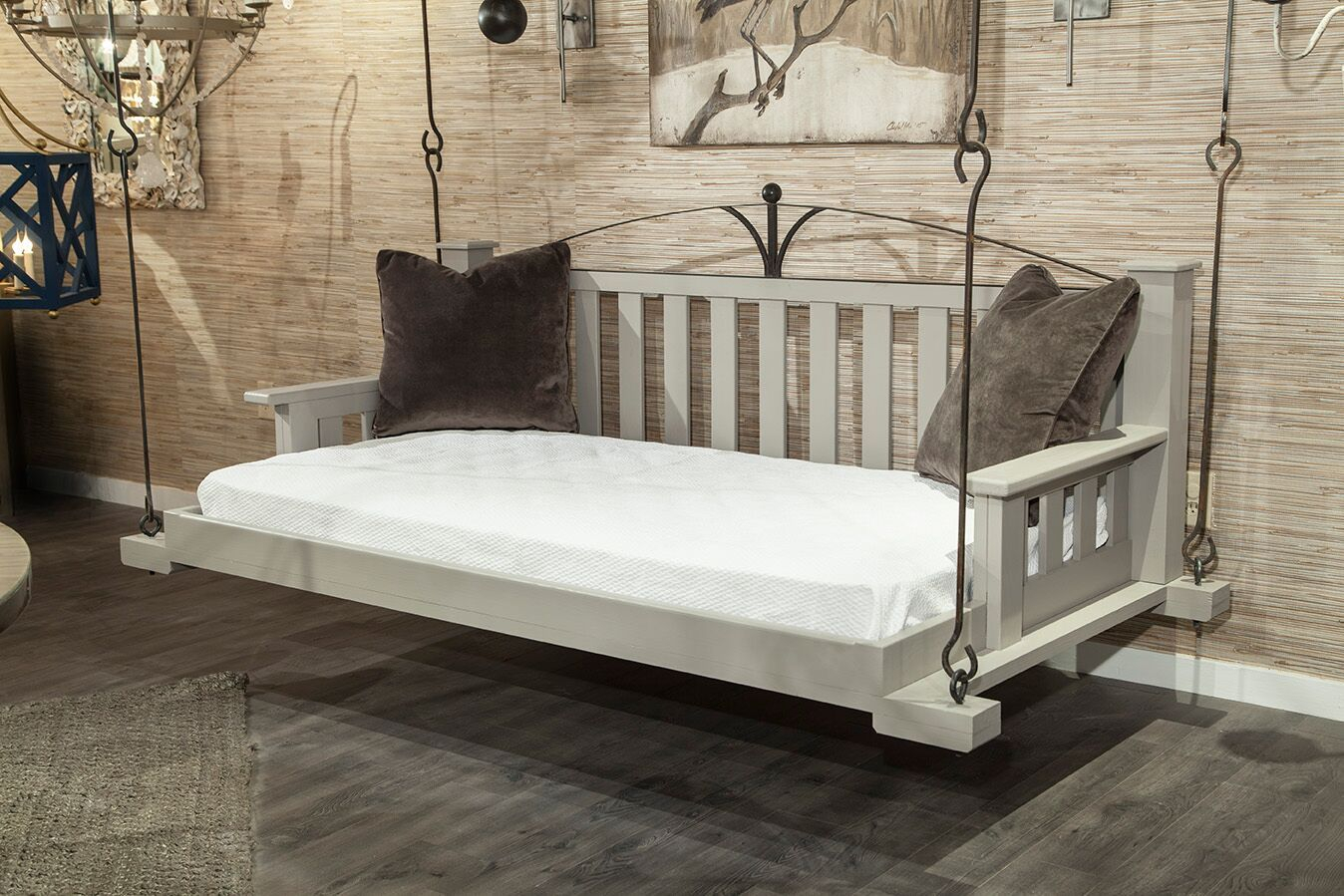Lco F10 Arch Swinging Day Bed In Mixed Material (View 18 of 25)
