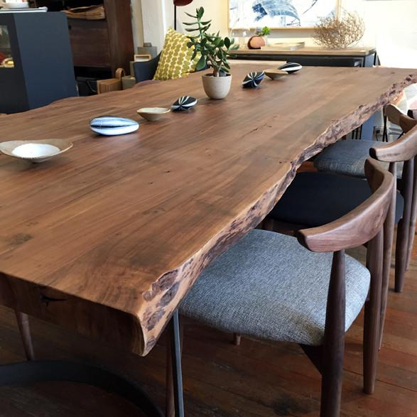 Leviathan Dining Table | Dining Table Design, Dining Room Throughout Acacia Wood Top Dining Tables With Iron Legs On Raw Metal (Image 16 of 25)